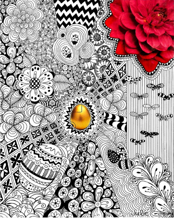 The Golden Egg Doodle Art Design