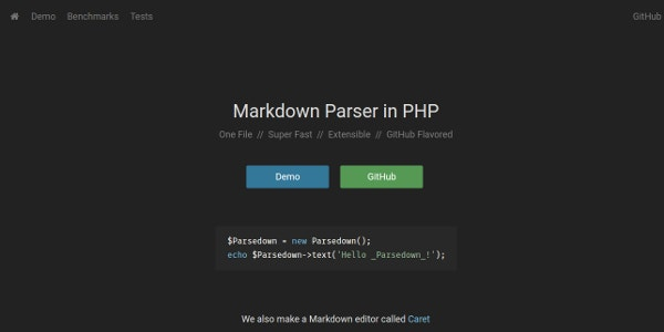 Markdown Parser in PHP
