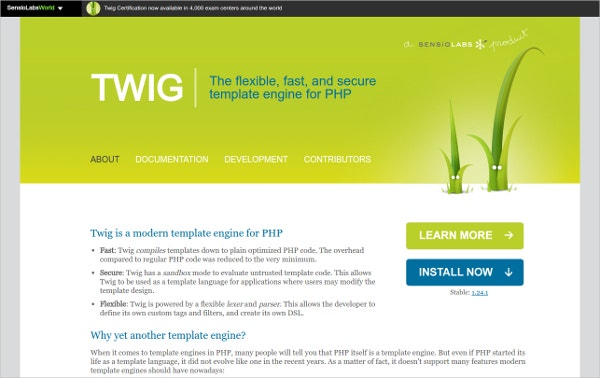 Twig - Modern Template Engine for PHP