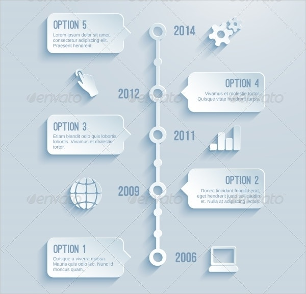 Timeline Infographics Text Box Template