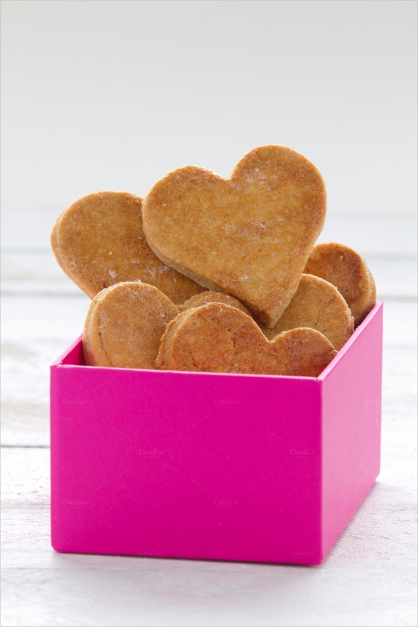 Heart Shaped Cookies in a Box