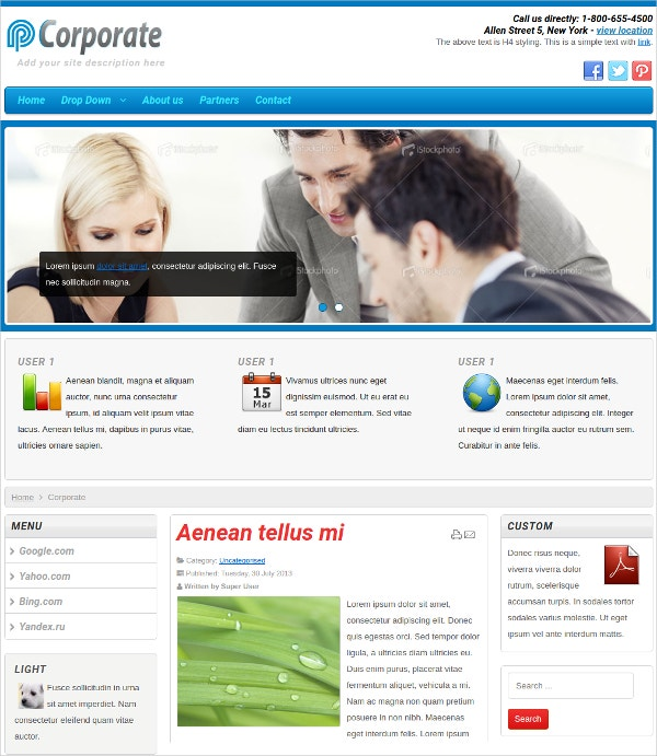 Professional Business & Corporate Joomla Website Template