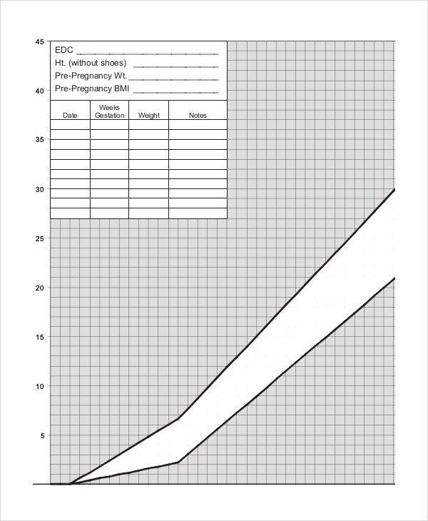 Baby Weight Growth Chart Template   Free Pdf Documents Download