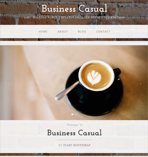 Free Business Bootstrap WordPress Theme