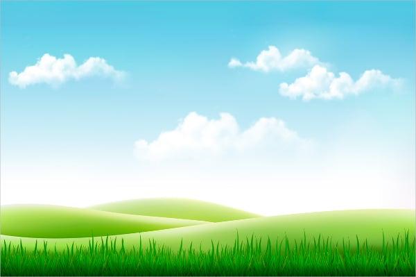 Grass & Sky Vector