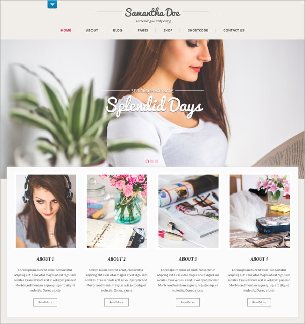 Free Lifestyle Business WordPress Theme