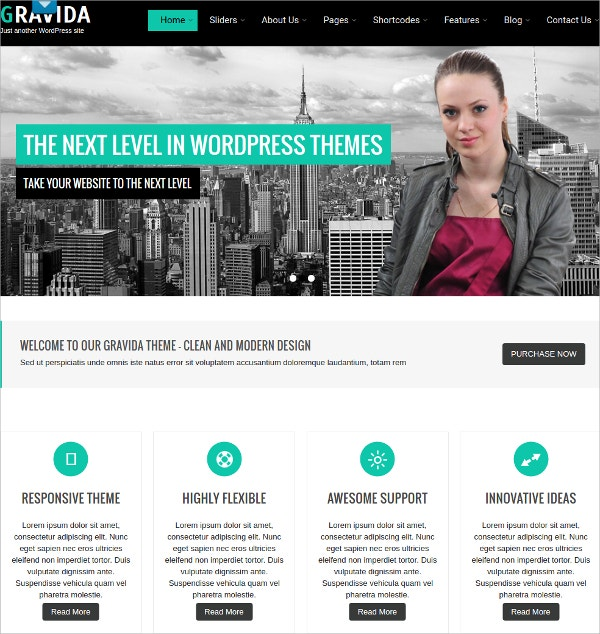 Exellent Free Professional Business WordPress Theme