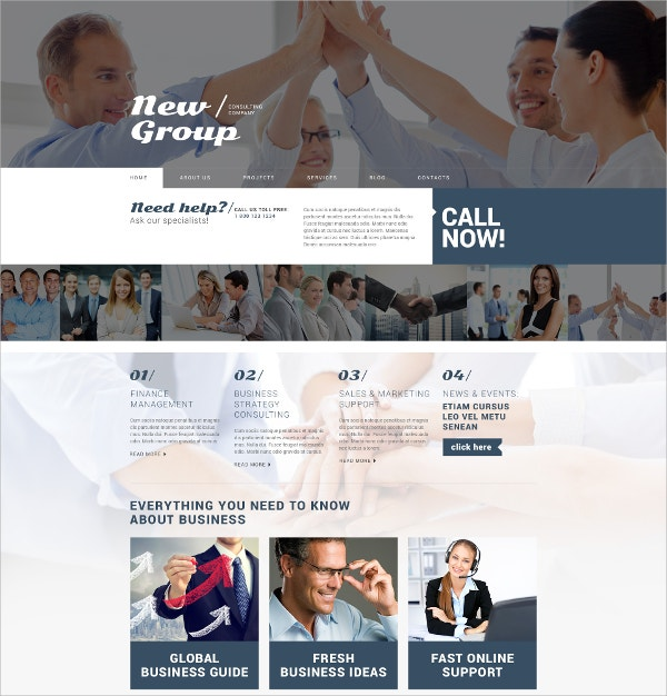 Free Consulting Firm WordPress Theme