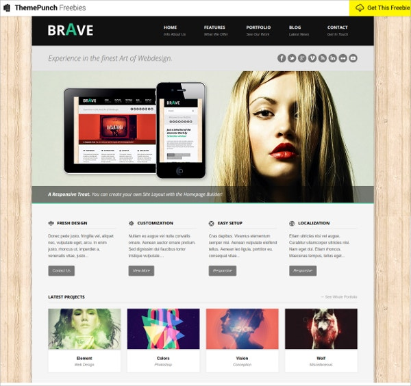Free Busines HTML Website Theme