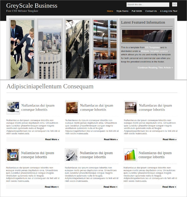 Free Busines Multipurpose Website Theme