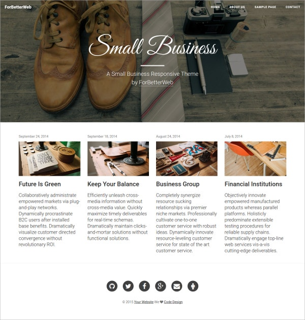 Free Small Business Bootstrap Website Template