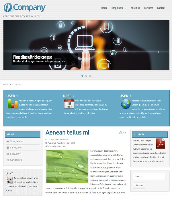 Business Joomla Website Template Free