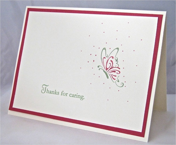 Thank You Sympathy Condolence Note Card