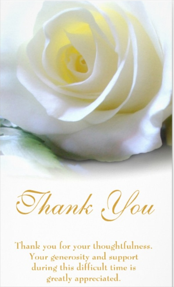 Customizable Sympathy Thank You Card