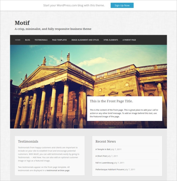 Free Perfect Business Website Theme