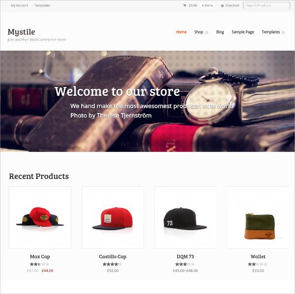 free ecommerce woocommerce website theme