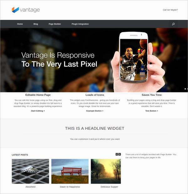 Free Popular Multipurpose Website Theme