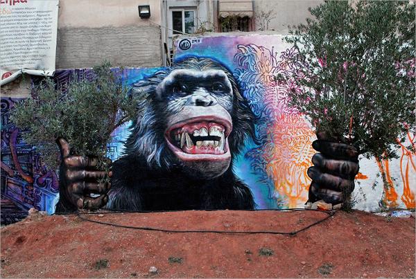 Monkey Street Art