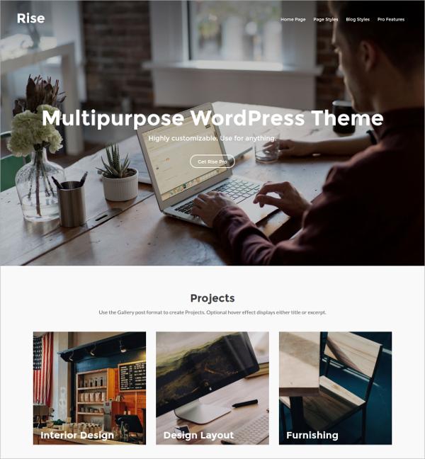 free awesome wordpress website theme