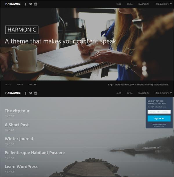 Free Modern Website Theme