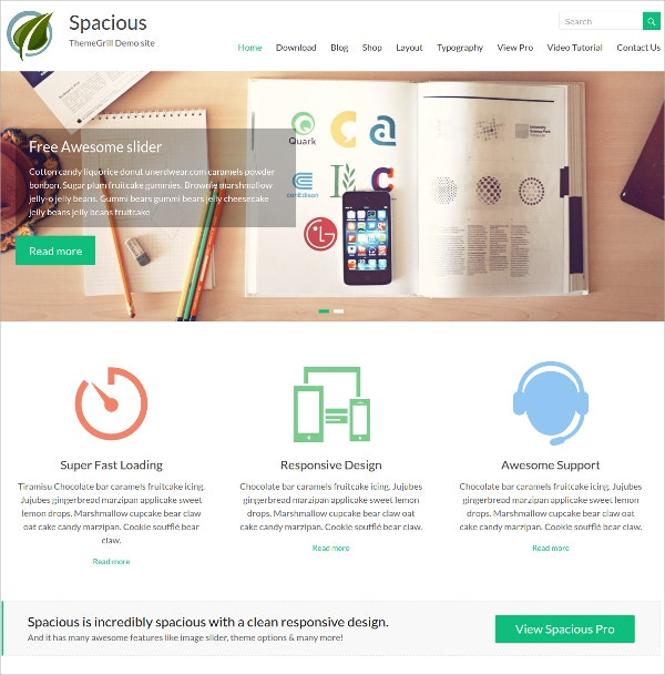 free portfolio blog website theme
