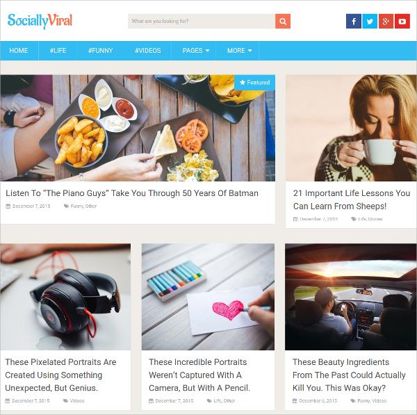 free beautiful website theme