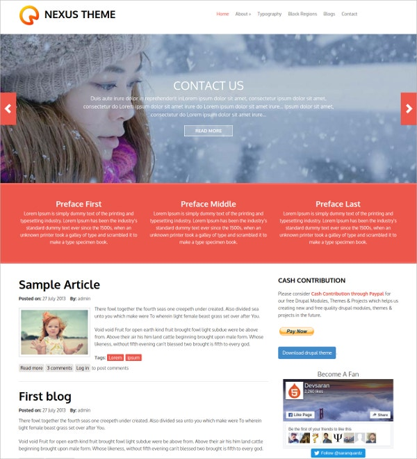 free minimal businesss drupal website theme