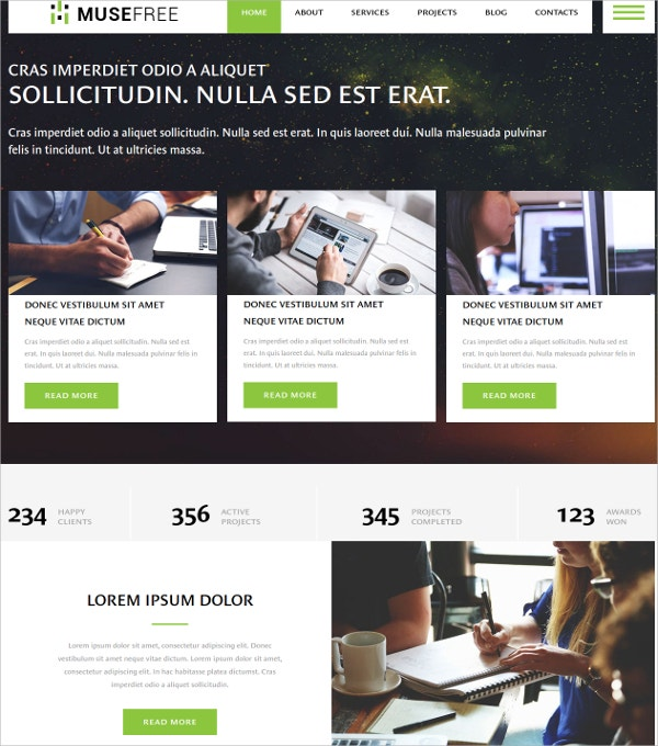Free Premium Ultimate Business Website Theme