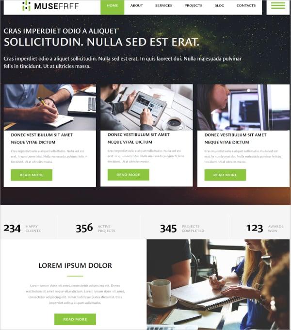 free premium ultimate business website theme