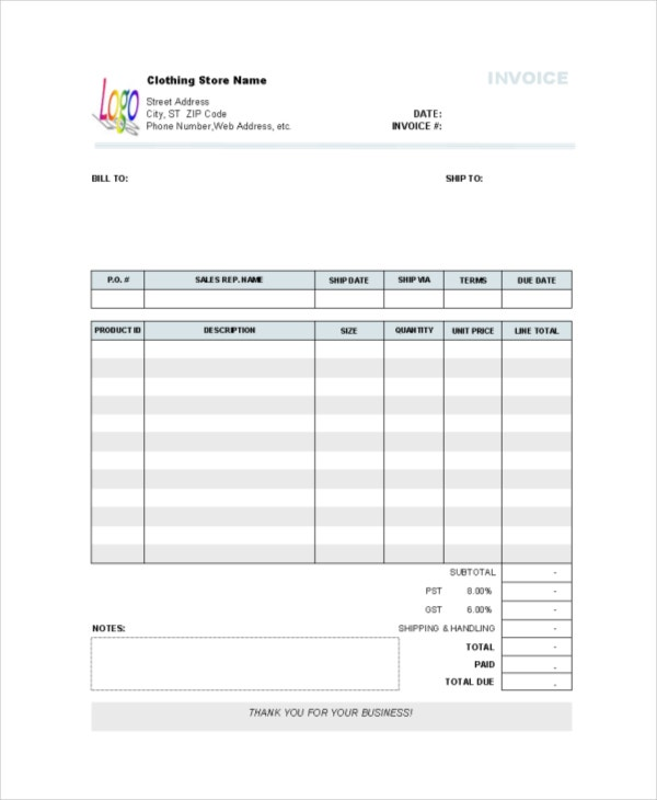 Store Receipt Template Free Word PDF Document Downloads Free - Shopping receipt template