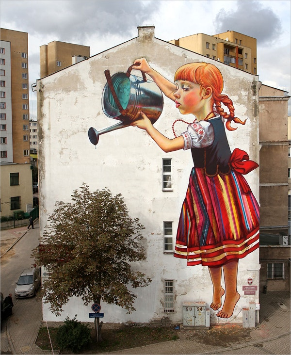 save trees street art