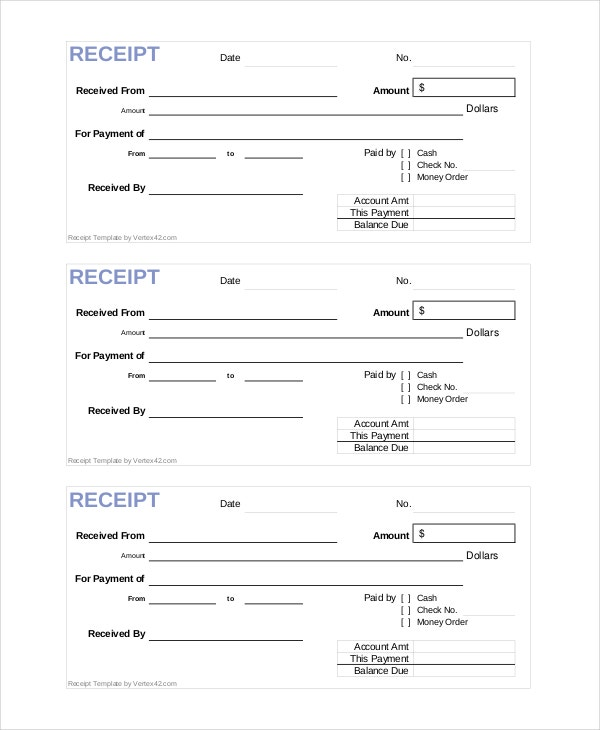 Store Receipt Template 8 Free Word PDF Document Downloads – Store Receipt Template