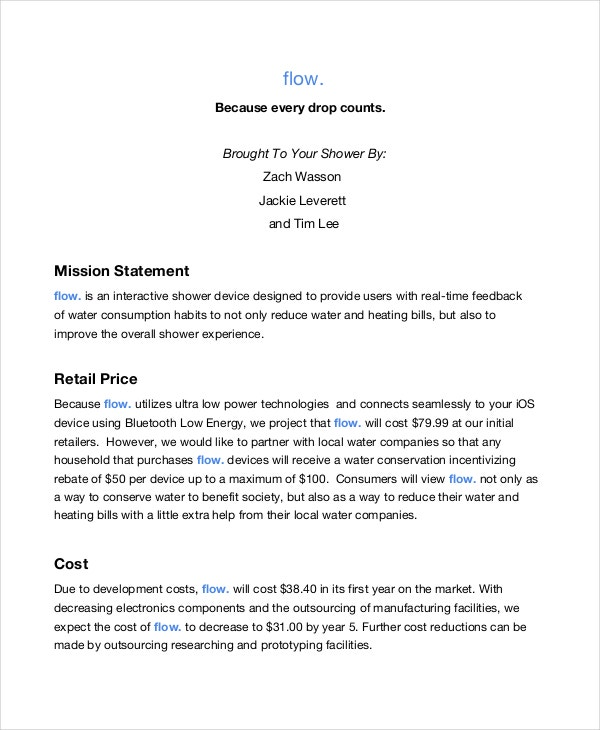 Retail Mission Statement Template