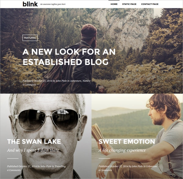 Photography WordPress Blogging Theme $55