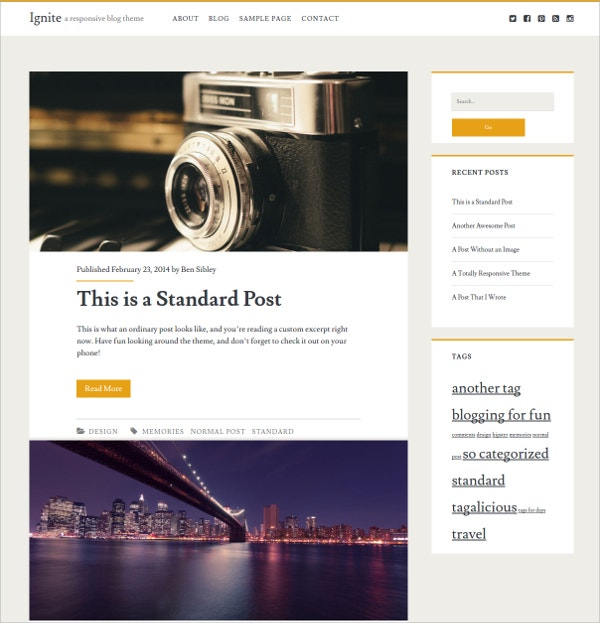 Blog WordPress Themes Templates Free Premium Templates - Luxury ignite template scheme