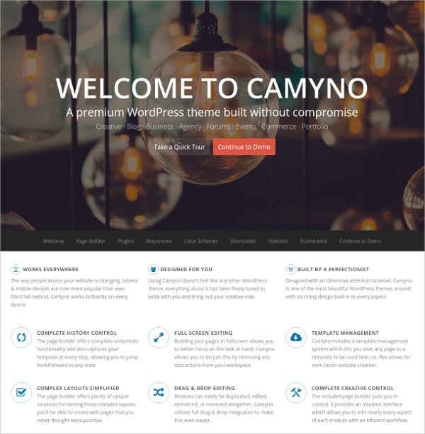 Premium WordPress Blog Theme $59