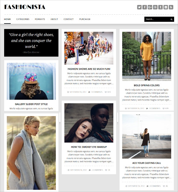 Responsive Masonry Blog WordPress Theme