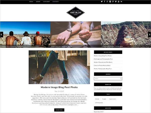 Free Simple & Beautiful Blog WordPress Theme