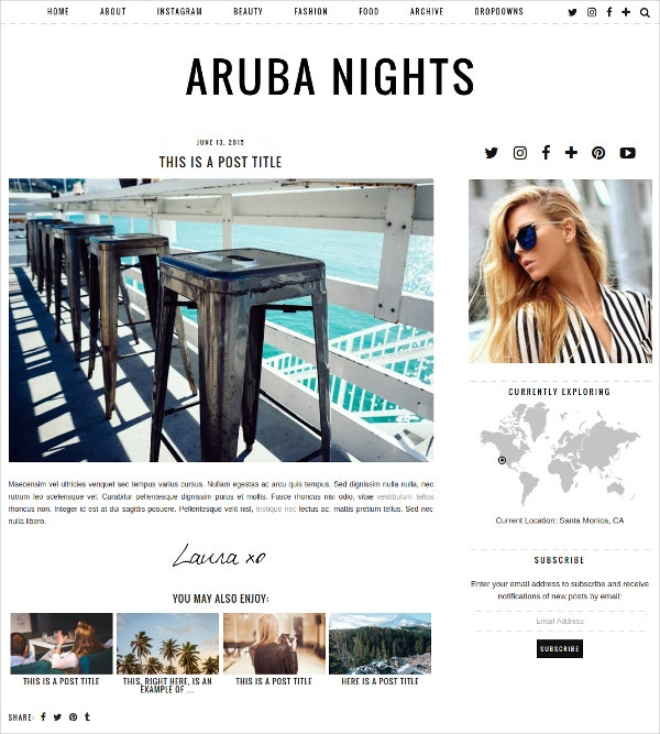 Modern Fully Responsive Blog WordPress Theme