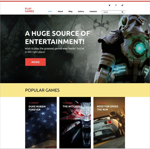 Play Games Blog WordPress Theme $75