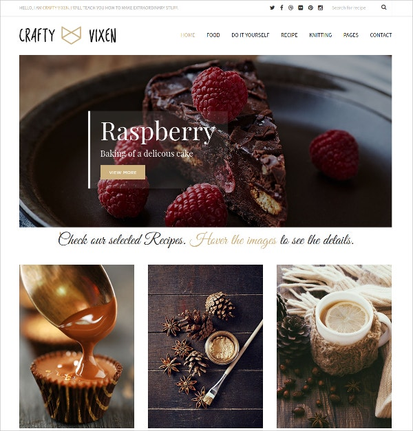 Feminine Responsive WordPress Blog Theme $44