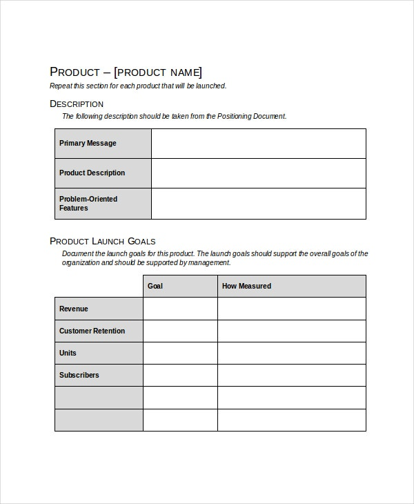 Product Launch Plan Template - 8+ Free Word, Pdf Document