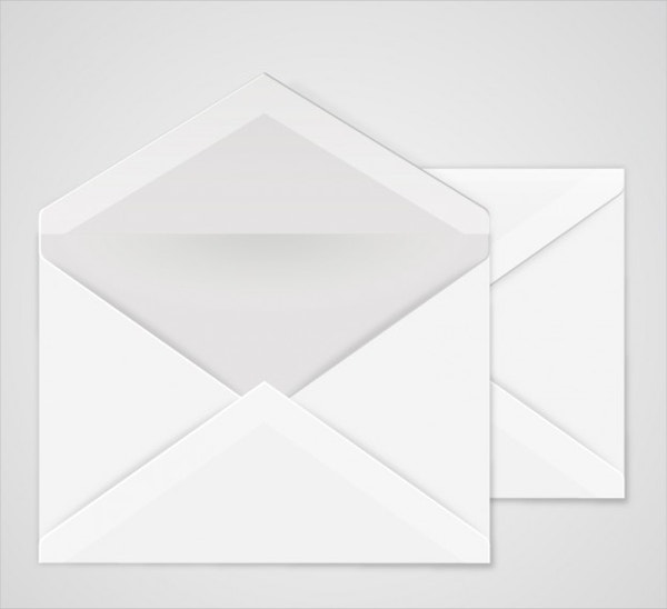 open envelope mockup