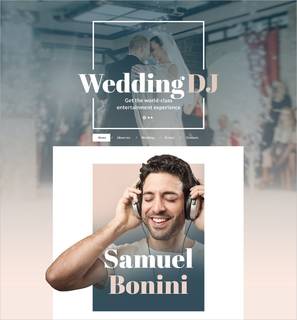 Wedding Events & DJ Website Template $75