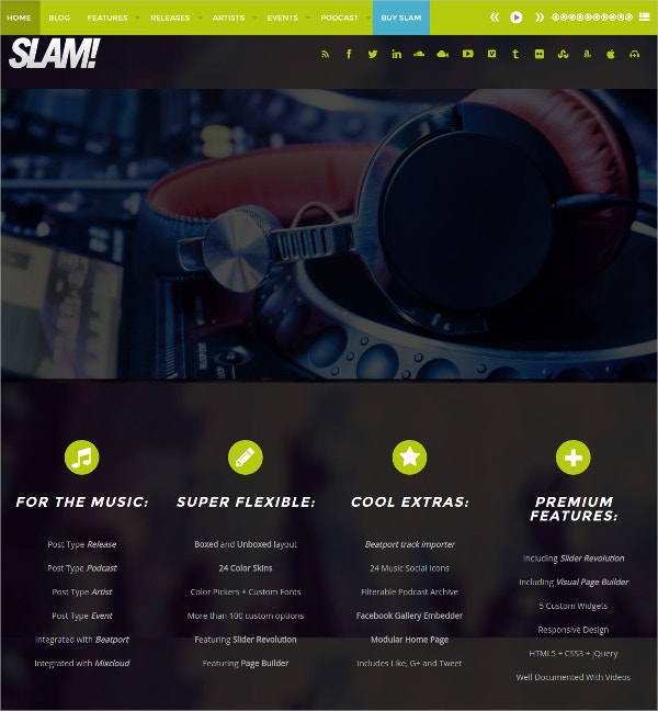 Dj & Radio Station WordPress Theme $59