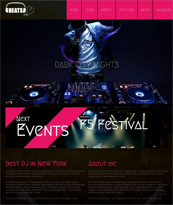 WordPress Website Musician & DJ Theme $69