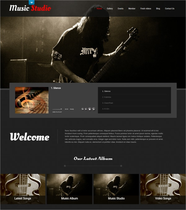 Music Studio & DJ WordPress Website Theme