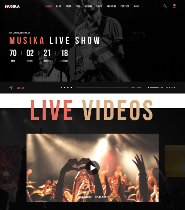 Music Festival & DJ Joomla Website Template $59
