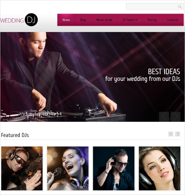 DJ & Music Drupal Website Template $75
