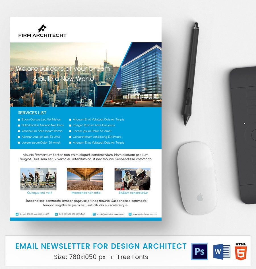 design architect e mail newsletter